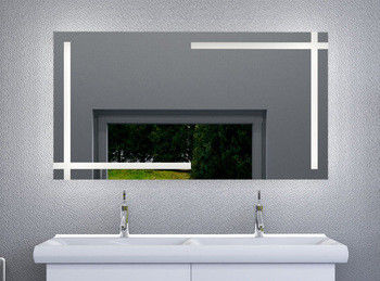 Wall Mounted LED Anti Fog Bathroom Mirror For Hotel LED Behind Mirror